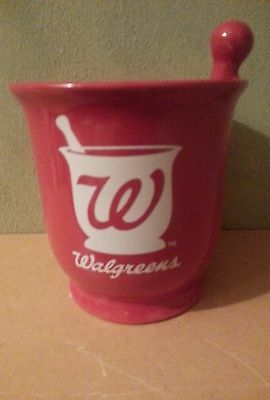 Walgreen's Red Mortar & Pestle Container!!!