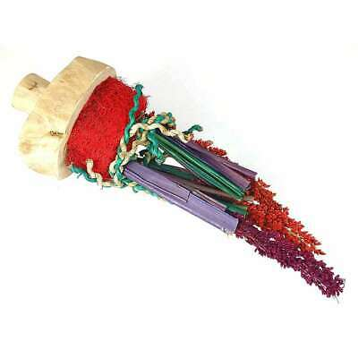 Java Wood Sorghum Flower Natural Shreddable Parrot / Bird Toy / Perch