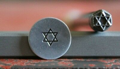 SUPPLY GUY 5mm Star of David Metal Punch Design Stamp SGA-25, Made in the USA