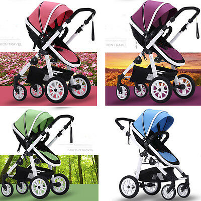 Kid Baby Child Stroller Pram Bassinet Newborn Luxury Reversible Jogger