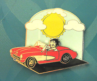 BETTY BOOP DRIVING A CORVETTE  - ' SWING '  hat pin, lapel pin, hatpin, tie tac