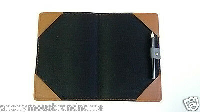 HANDMADE leather golf scorecard holder WITH PENCIL SLOT yardage book cover BROWN