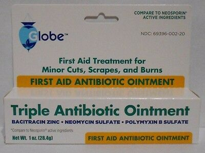 First Aid Triple Antibiotic Ointment 1oz Tube -Expiration Date 10-2020-