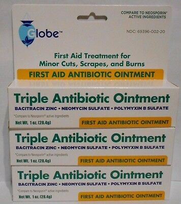 First Aid Triple Antibiotic Ointment 1oz Tube -3 Pack -Expiration Date 04-2019-