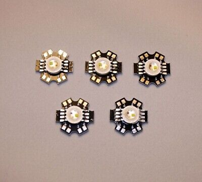 5x 4W RGBW 4-Chip 20mm Star LED Red Green Blue White Light Lamp USA