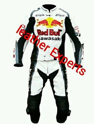 KAWASAKI NINJA MotoGp  MOTORBIKE/MOTORCYCLE LEATHER SUIT- FULL PROTECTION