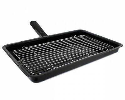 Belling Oven Cooker Grill Pan Complete With Rack & Detachable Handle
