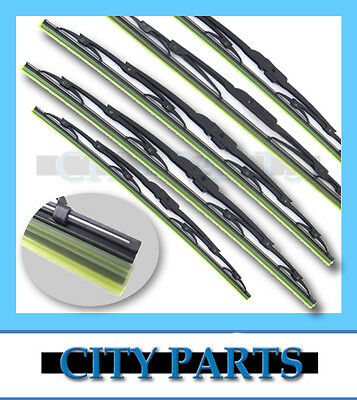 2 x NEW METAL FRAME WINDSCREEN WIPER BLADE FORD FALCON EA EB ED EF EL BA BF
