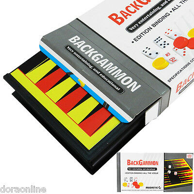 Kids Children Backgammon Magnetic Set Board Game
