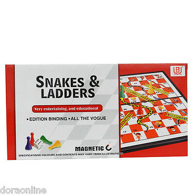 Kids Children Snakes & Ladders Set Board Game Plastic Board