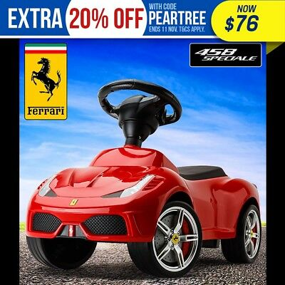 NEW Official Ferrari Ride-On Kids Car – Push Foot-To-Floor Toddler Toy Walker