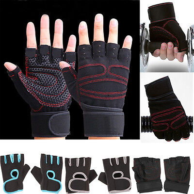 Men's Fitness Exercise Workout Weight Lifting Sport Non-Slip Gloves Gym Training