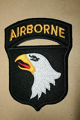 101St Airborne Division Cloth Patch With Tab Ww2 Type 101