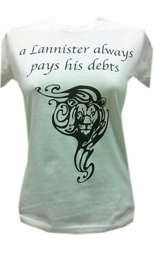 Tshirt game of thrones,house of lannister,pays debts