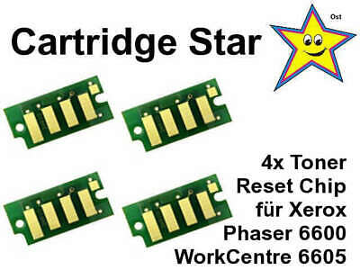 Set 4x Toner Reset Chip für Xerox Phaser 6600 WorkCentre 6605