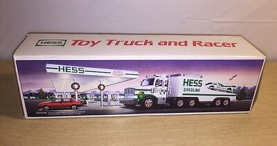 New 1988 Hess Toy Truck Bank & Racer Car