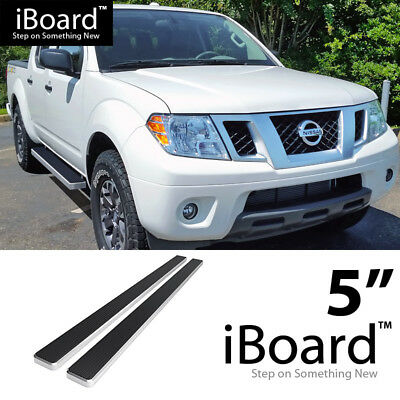 Running Board Side Step 5in Silver Fit Nissan Frontier/Equator Crew Cab  05 18