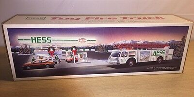 New 1989 Hess Toy Fire Truck Bank Dual Sound Sirens