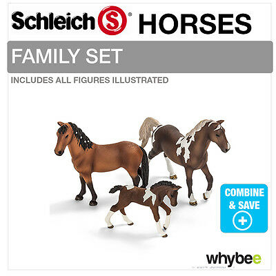 SCHLEICH TRAKEHNER HORSE FAMILY Set Including 13756 + 13758 + 13757 Brand New