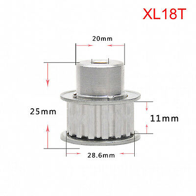 XL18T Synchronous Timing Belt Pulley Gear Wheel 5.08mm Pitch For 10mm Width Belt