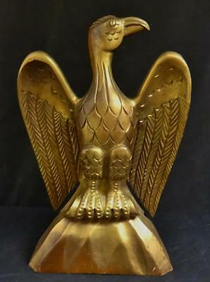 Vintage Carved & Gold Gilt Painted Spread Winged Eagle Nice!