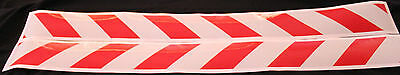 Red/White Class 2 Reflective Tape 75mm x 1.15m Pair (Left & Right Direction)