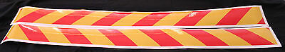 Yellow/Red Class 2 Reflective Tape 75mm x 1.15m Pair (Left & Right Direction)