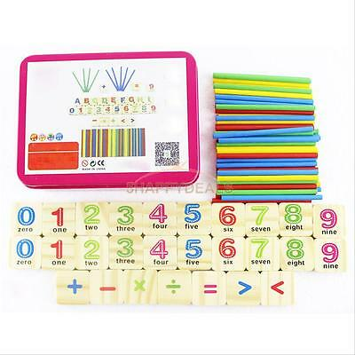 Counting Toy Education Wooden Stick Child Early Learning Numbers Colorful Puzzle