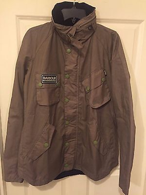 NWT Barbour International Pelton Waxed Cotton Jacket Pewter MWX0626GY51L LARGE
