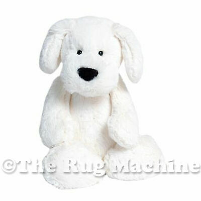 CHISTOPHER COLLECTION TOBY DOG WHITE SOFT ANIMAL PLUSH TOY 23cm **NEW**