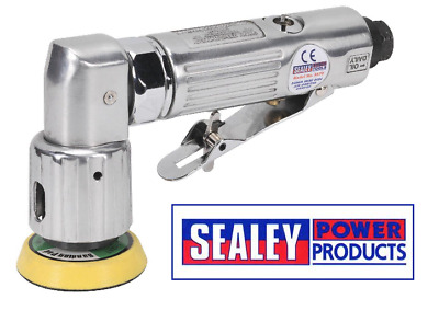 Sealey SA70 Air Orbital Sander Mini Disc Aluminium Housing 50mm