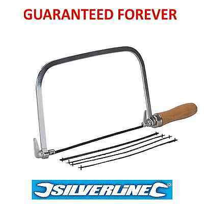 """Silverline 6"""" Coping / Fret Saw Wood Handle Steel Metal Frame With 5 Blades"""