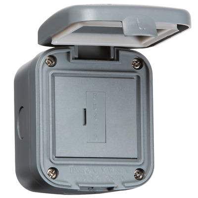 13A Unswitched Fused Spur Unit IP66 Weatherproof Outdoor For Home and Business