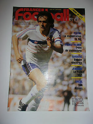 France Football 25 Fevrier 1986 // Platini - La Multiplication Du Roi
