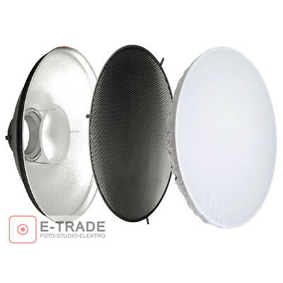 F&V Beauty Dish SILVER + GRID Dia. 70cm Con Attacco Bowens BeautyDish Honeycomb