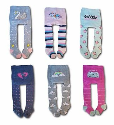 Baby Toddler Girl Winter Terry Cotton Tights Leg Warmers Pants Size 0-3 Years