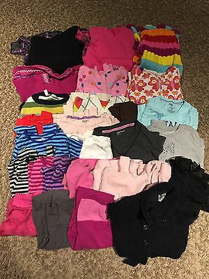 HUGE LOT 27 pcs Girls WINTER CLOTHES clothing dresses sweaters tops 5 6 tcp GAP