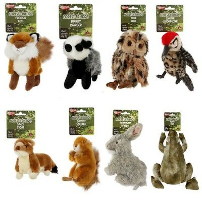 Animal Instincts Dog Puppy Plush Soft Squeaky Toy FOREST FRIENDS Game Toss Play