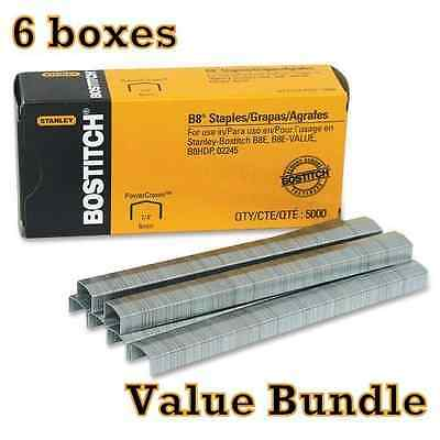 Value Pack Of 6 boxes Stanley Bostitch B8 Power Crown Premium 1/4 Staples New