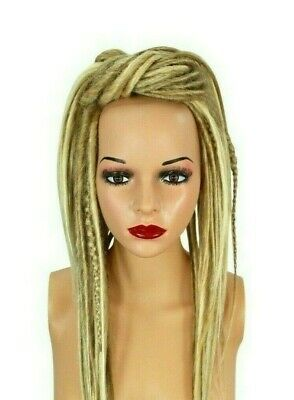 Blonde Mix Dread Fall Costume Cosplay Tribal Hippie Burning Man Boho Hair Piece