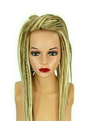 Blonde Mixed Dread Falls, Hair Pieces, 20 Inches, Synthetic, Unisex.