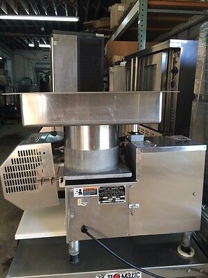 Patty O Matic 330A hamburger molder former meat turkey automatic stainless tray