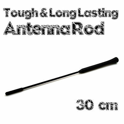 30 cm Long Car Antenna Rod Replacement 5mm Thread Screw In Rubber Covered Aerial