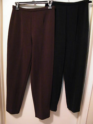 Great Buy! 2 Pair Of Totonko Petite Pants,one Brown And One Black.dressy Fine Pa