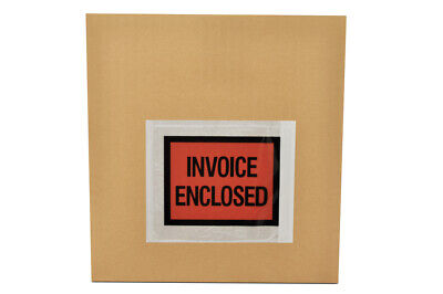"""4000 4.5"""" x 5.5"""" Invoice Enclosed Packing List Shipping Envelopes Full Face"""