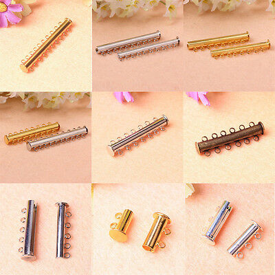 2-10 Strand Magnetic Slide Lock Clasps Jewelry Findings 5pcs