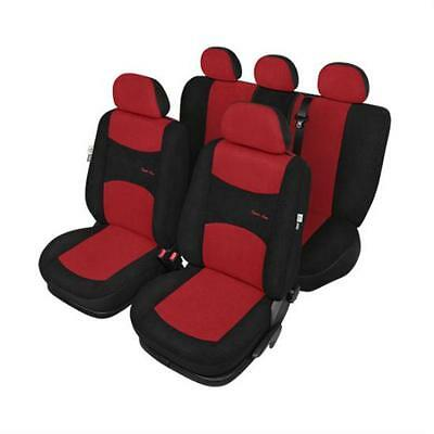 Red & Black Car Seat Covers Package set - For Citroen C4 2004 to 2009
