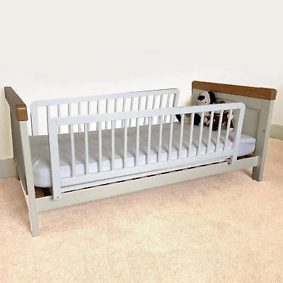 Safetots Double Sided Kids Wooden Bed Rail Toddler Bed Guard White Wood