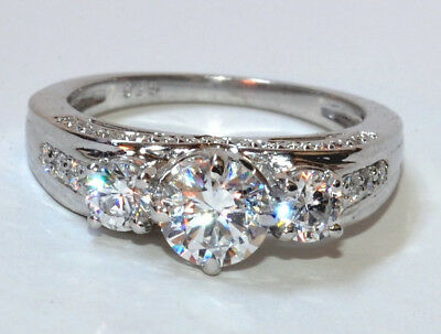 2.10Ct Round Cut Diamond Solitaire  Engagement Ring 14Ct Solid White Gold