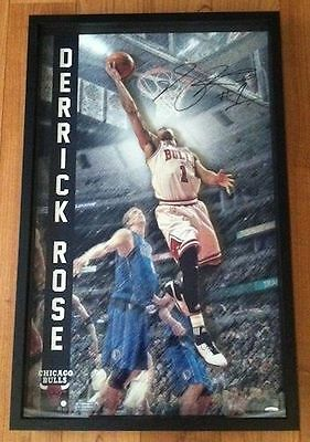 "DERRICK ROSE Signed Autographed Chicago Bulls ""Pop Out"" 3D Photo UDA LE 15/50"